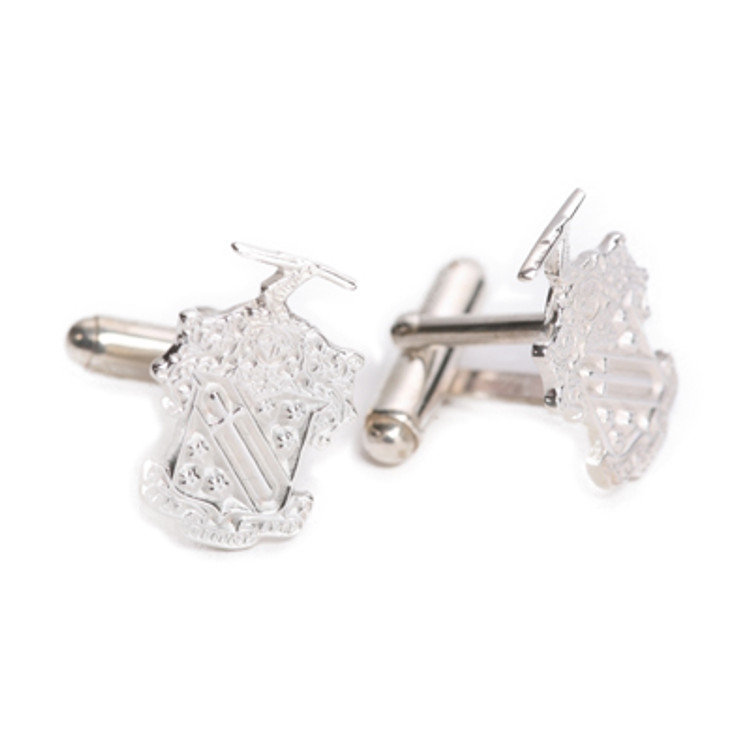 Sterling Silver Greek Crest Cuff Links