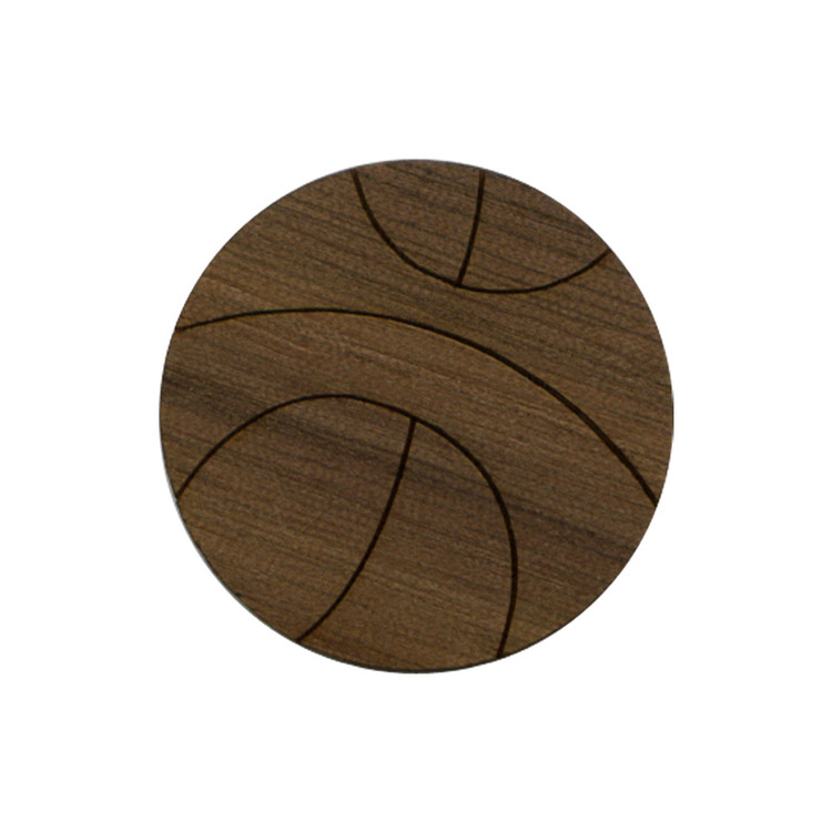 Wooden Basketball Symbol