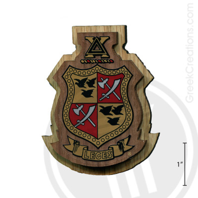 Delta Chi Large Raised Wooden Crest