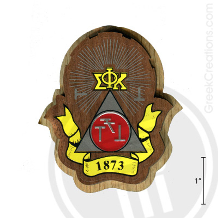 Phi Sigma Kappa Large Raised Wooden Crest