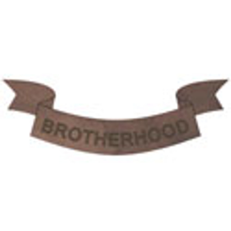 Peel-n-Stick Brotherhood Banner Decoration for Blank Paddles