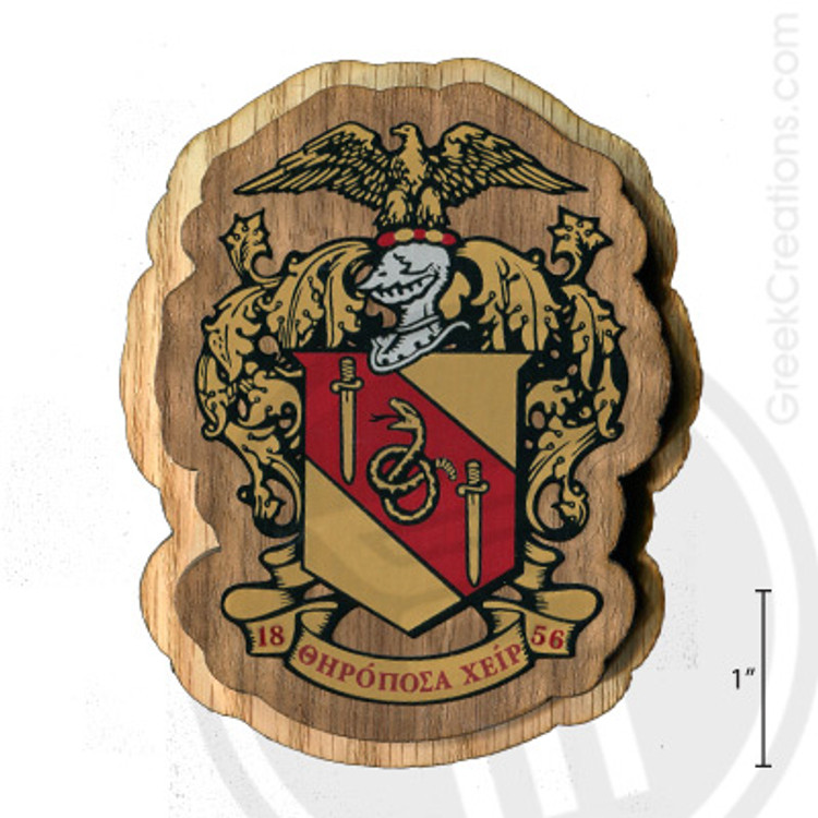 Theta Chi Large Raised Wooden Crest