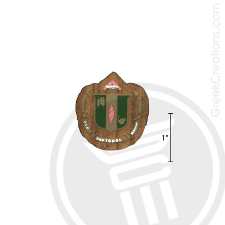 Delta Zeta Small Raised Wooden Crest