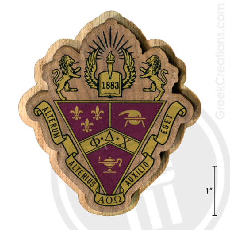 Phi Delta Chi Large Raised Wooden Crest