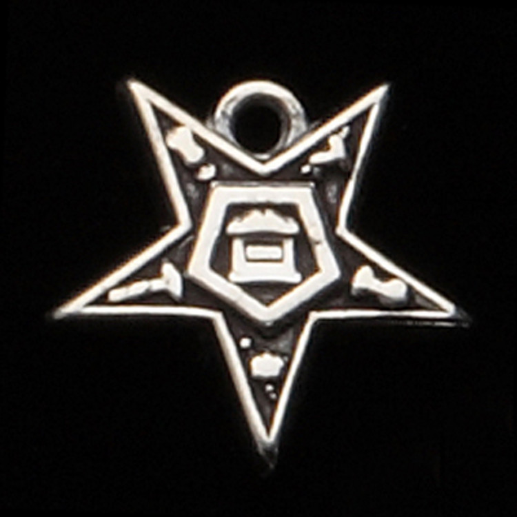 Sterling Silver OES Star Symbol Charm