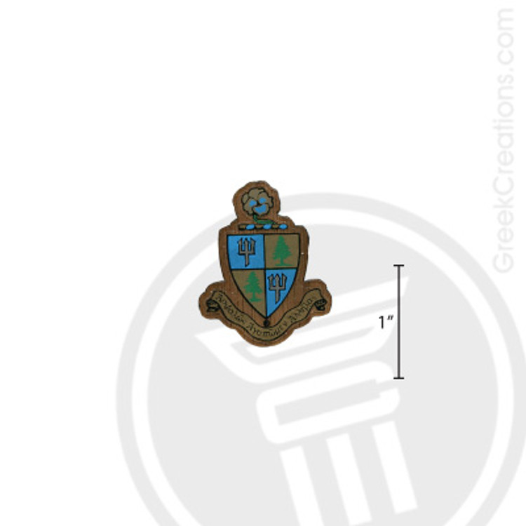 Delta Delta Delta Small Raised Wooden Crest