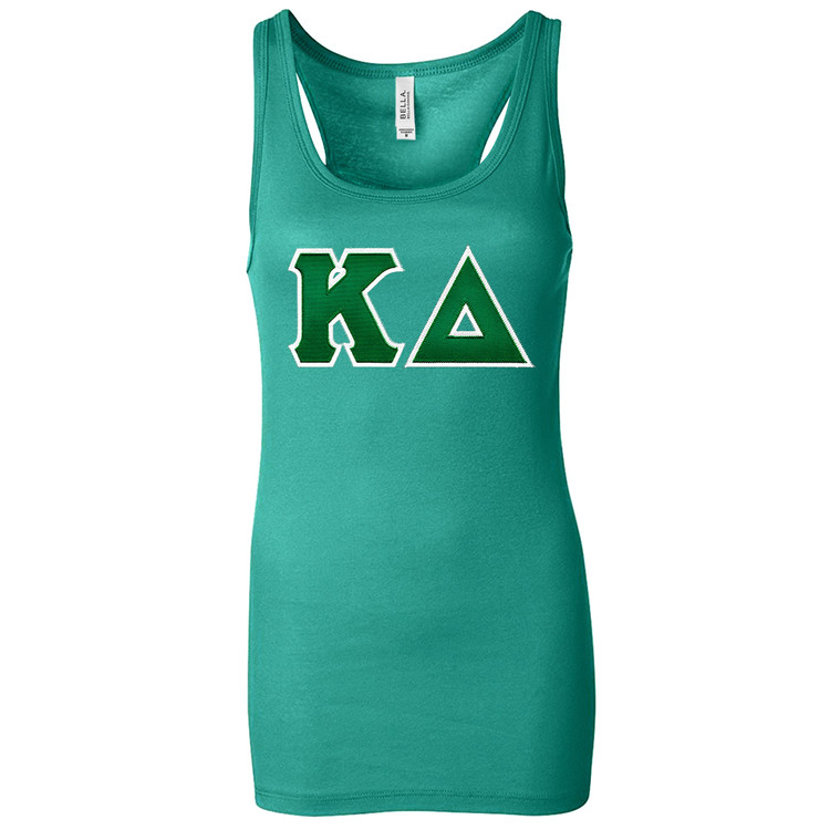 Sorority Lettered Bella Racer Back Tank