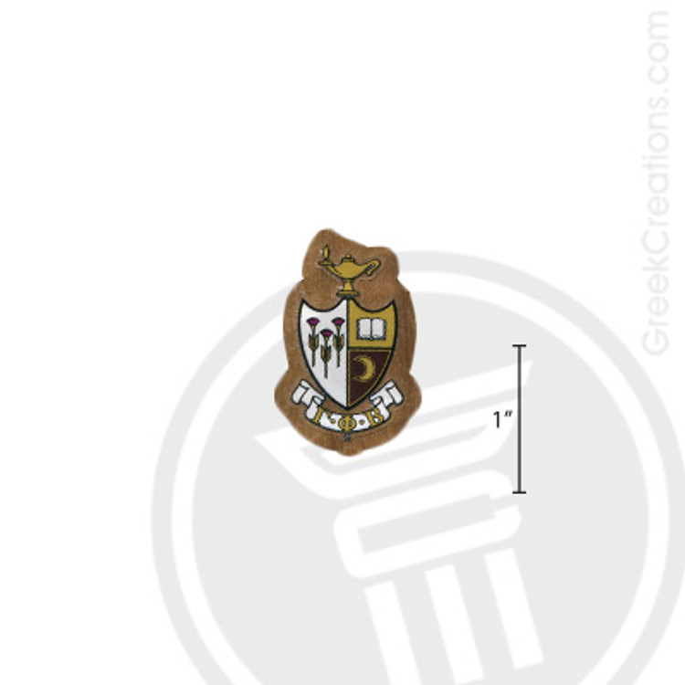 Gamma Phi Beta Small Raised Wooden Crest