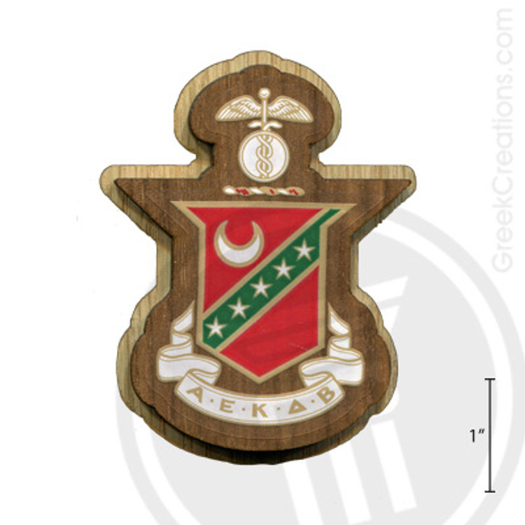 Kappa Sigma Large Raised Wooden Crest