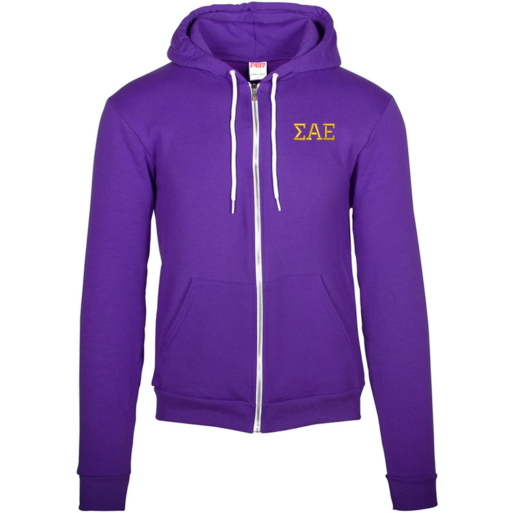 Fraternity & Sorority American Apparel Embroidered Flex Fleece Hoodie