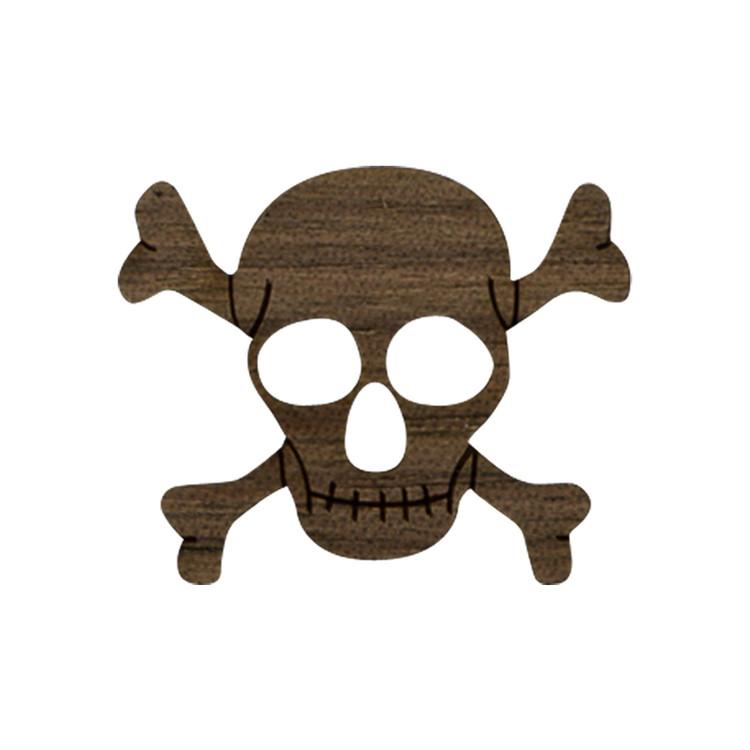 Wooden Skull Symbol
