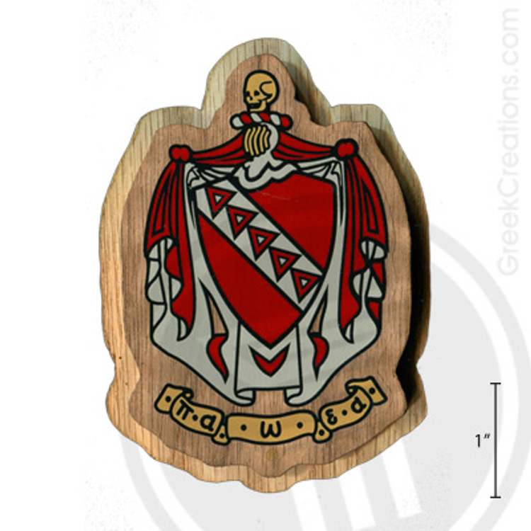 Tau Kappa Epsilon Large Raised Wooden Crest
