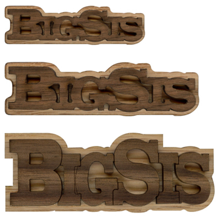Double Layer Logo Text - Big Sis