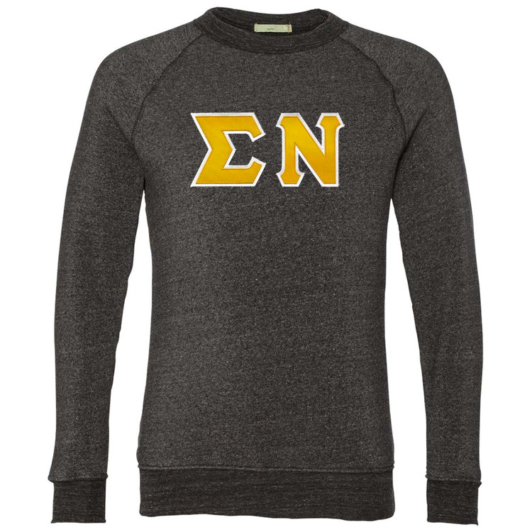 Fraternity & Sorority Lettered Alternative Lightweight Crewneck Sweatshirt