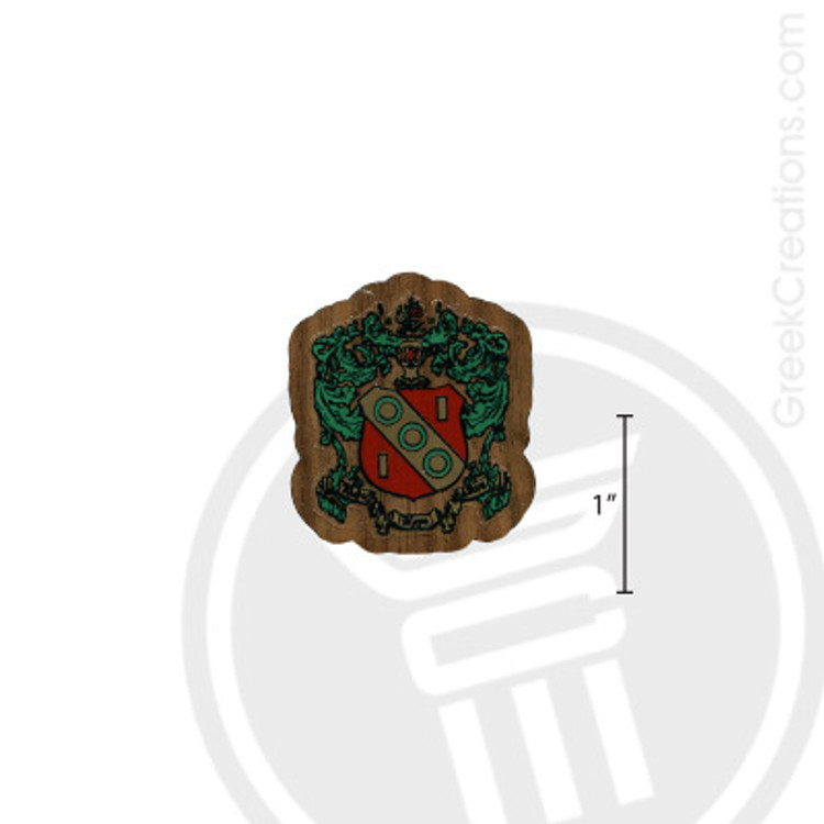 Alpha Gamma Delta Small Raised Wooden Crest