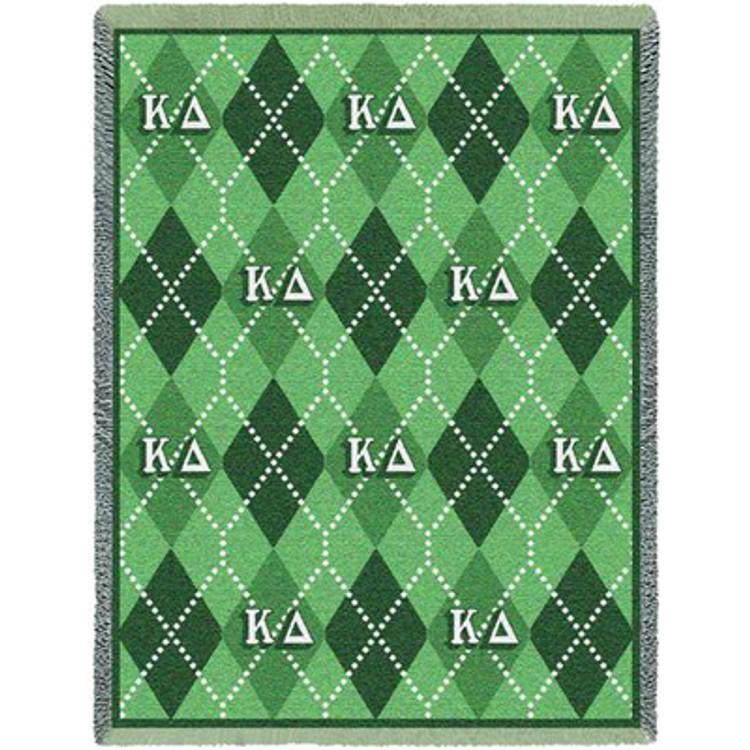 Kappa Delta Plaid Afghan