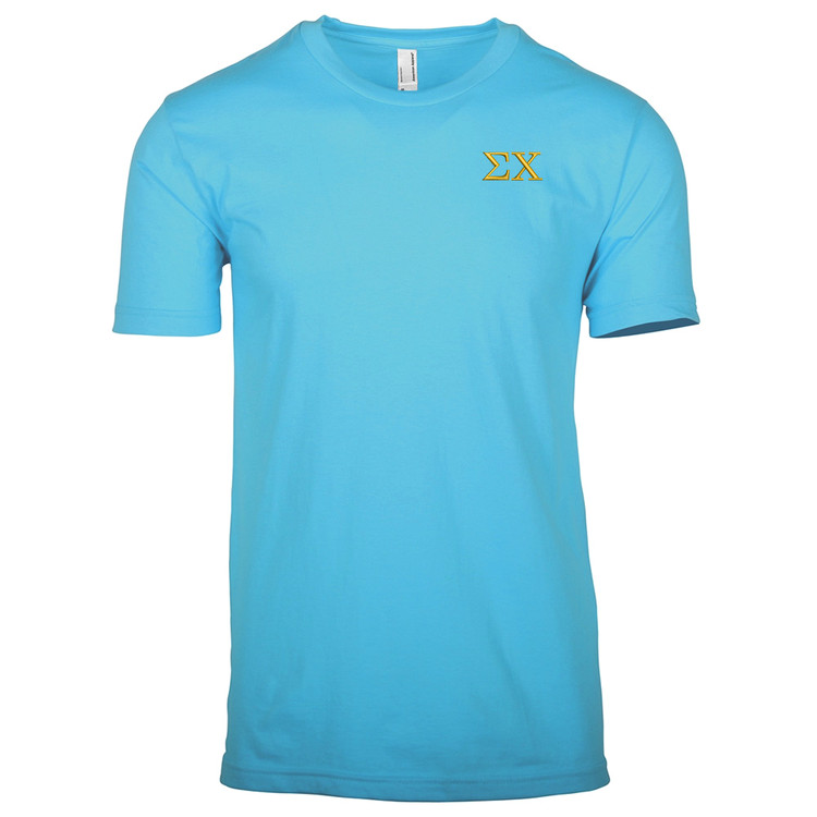 Fraternity & Sorority Embroidered American Apparel Unisex Short Sleeve T-shirt