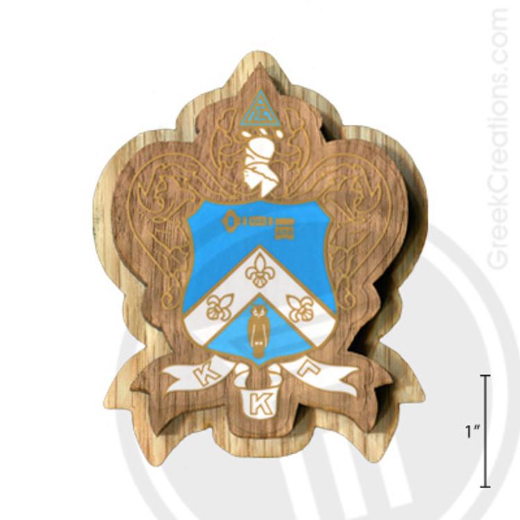 Kappa Kappa Gamma Large Raised Wooden Crest
