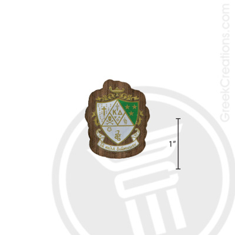 Kappa Delta Small Raised Wooden Crest