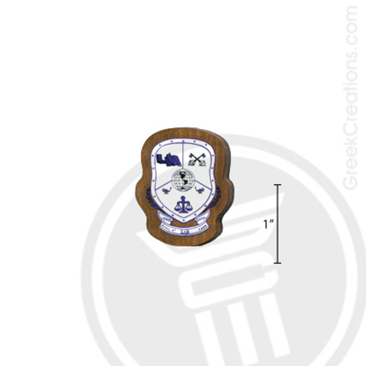Sigma Lambda Beta Small Raised Wooden Crest