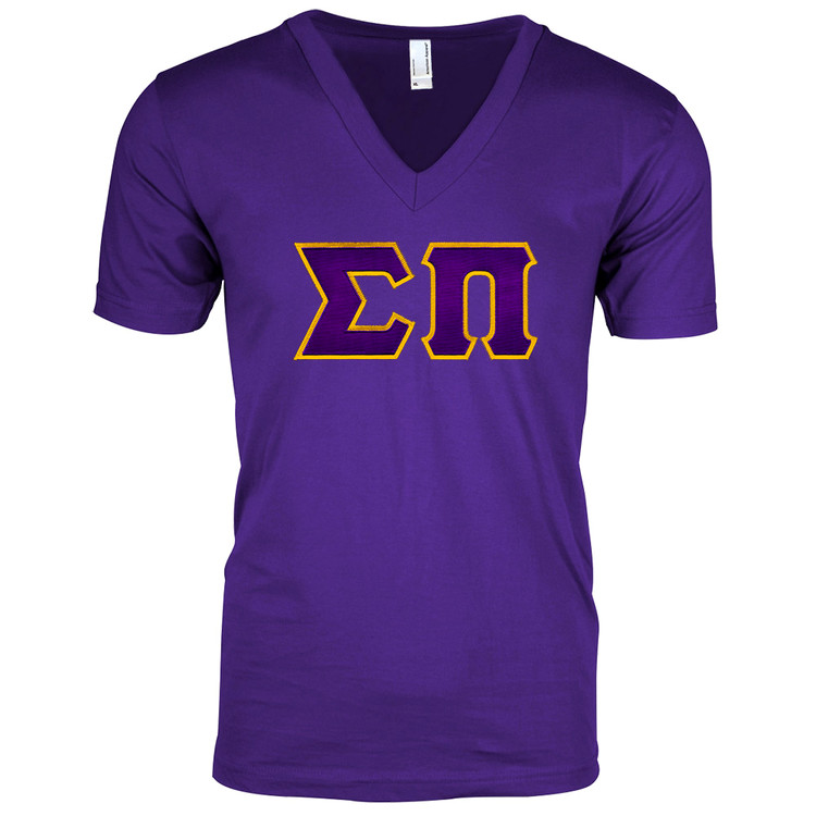 Fraternity & Sorority Lettered American Apparel Short Sleeve V-Neck Tee