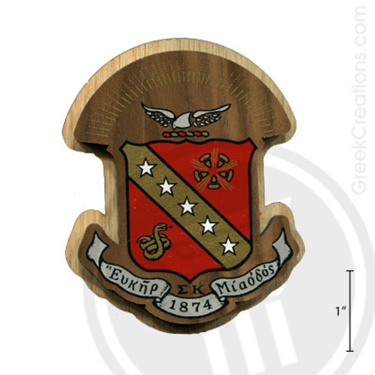 Sigma Kappa Large Raised Wooden Crest