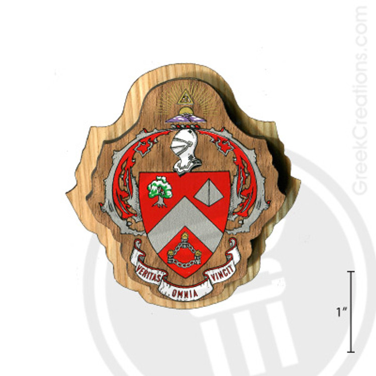 Triangle Large Raised Wooden Crest