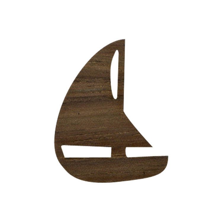 Wooden Sailboat Symbol