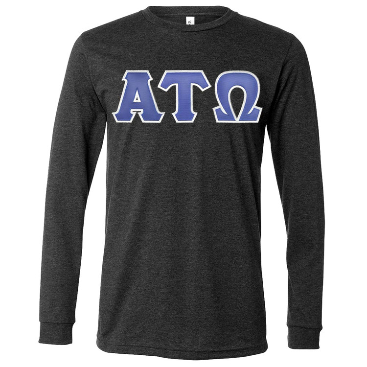 Fraternity & Sorority Lettered Canvas Long Sleeve Jersey