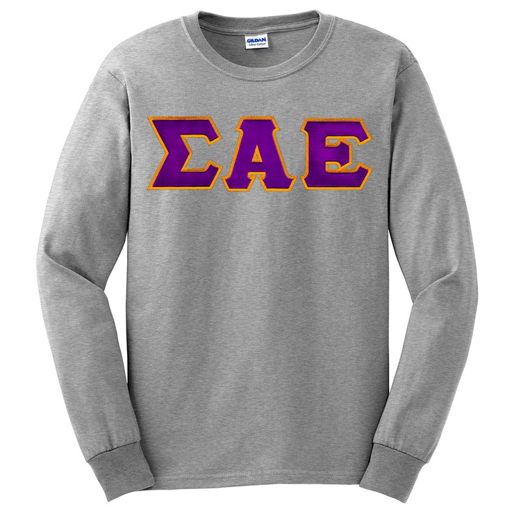 Fraternity & Sorority Lettered Gildan Long Sleeve T-Shirt