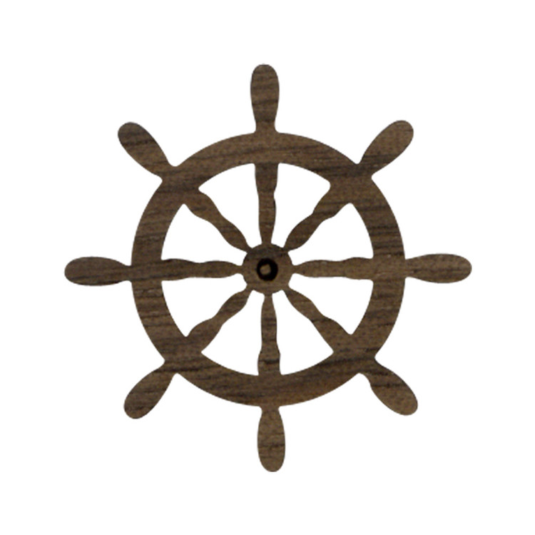 Wooden Captain's Wheel Symbol