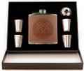 Harp 5-Piece Leather Flask Box Set | Irish Rose Gifts