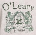 Vintage Coat of Arms Tee Shirt in Ash   Irish Rose Gifts