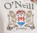 Irish Coat of Arms Hooded Sweatshirt in white   Irish Rose Gifts