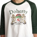 Irish Coat of Arms Jersey Tee - 3/4 sleeve