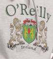 Irish Coat of Arms Hooded Ash Sweatshirt | Irish Rose Gifts