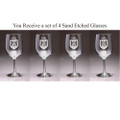 Irish Coat of Arms Wine Glass Set - Set of 4 (Sand Etched)