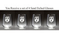 Irish Coat of Arms Stemless Wine Glasses - Set of 4 (Sand Etched)