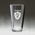 The Irish Set - 4 Different Pint Glasses - Set of 4 (Sand Etched)