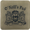 Irish Coat of Arms Coasters - Set of 4 with Wood Stand