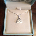 Trinity Knot Necklace - Sterling Silver