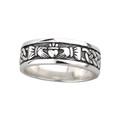 Men's Claddagh Ring - Sterling Silver by Solvar