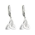 Celtic Trinity Knot Drop Earrings - Sterling Silver