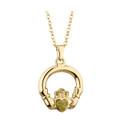 Gold Plated Marble Claddagh Pendant - Solvar Jewelry Made in Ireland