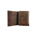 Irish Coat of Arms Rustic Leather Wallet - inside