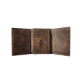 Irish Coat of Arms Rustic Leather Wallet - full inside