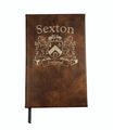 Irish Coat of Arms Leather Journal - Rustic Brown
