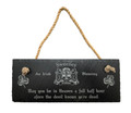 Irish Coat of Arms Slate Plaque Blessing - May You Be in Heaven a Full Half Hour