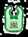 Irish Coat of Arms Baby Bib - With Bow