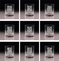 Personalized Initial Double Old Fashioned Tumbler - Set of 4